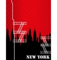New york background vector image