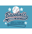 Baseball league champions vector image