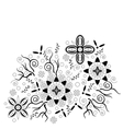 Abstract Floral Pattern Contour vector image vector image