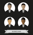 Businessman profiles icons flat style Digital imag vector image