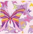 butterfly seamless pattern summer holiday vector image