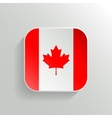 Button - Canada Flag Icon vector image