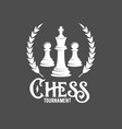 Chess labels badges and design elements vector image