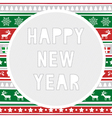 Happy new year greeting card8 vector image