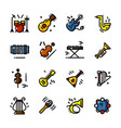 line musical instruments icons vector image