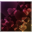 Mosaic heart lights vector image