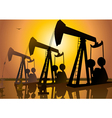 Oil Drilling vector image
