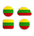 Lithuania flag labels vector image vector image