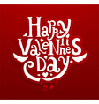 Funky Valentines Day Card vector image