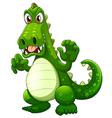 An angry crocodile vector image vector image