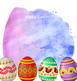 Easter watercolor vector image vector image