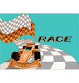 race background with car vector image vector image