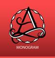 design modern logo monogram for business vector image