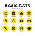 logistics flat icons set vector image