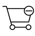 remove items from shopping cart thin line icon vector image