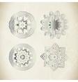 Vintage silver ornament vector image