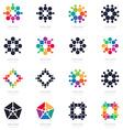 Big set of Abstract Logos logotypes design vector image