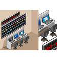 isometric controll center vector image
