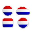 Netherlands flag labels vector image