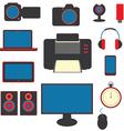 set of gadgets vector image