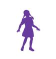 Silhouette of little girl vector image