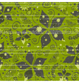 pattern with nature and grunge vector image