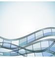film background blue retro vector image vector image