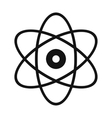 Atom modern simple icon vector image
