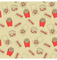 Vintage Fast Foods Pattern vector image vector image