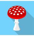 amanita muscaria poisonous mushroom icon vector image
