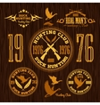 Duck Hunting - set for hunting emblem vector image