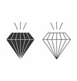 flat of diamonds vector image