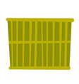 green cargo container cartoon vector image