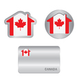 Home icon on the Canada flag vector image