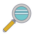 magnifying glass icon in colorful silhouette vector image