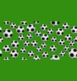 seamless soccer balls vector image