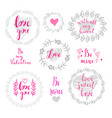 set of wreath love vector image