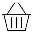 shopping basket pixel perfect thin line icon 48x48 vector image
