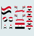 syrian flag set collection of symbols flag vector image