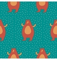 Winter Bear Seamless Pattern vector image