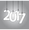 New Year card with hanging numbers vector image