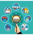 Auto Service Circle Design Concept vector image