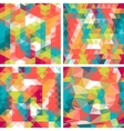 Seamless triangle patterns in retro style vector image