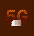 5g sim card vector image