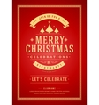 Christmas party poster retro typography and vector image vector image