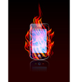 Mobile burn vector image