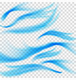 blue waves on transparent background eps 10 vector image