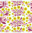 floral seamless pattern and flowers vector image