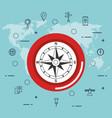 gps navigation app icons vector image