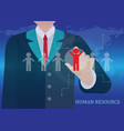 Human resources business vector image